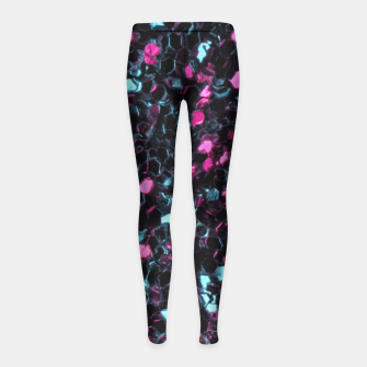 Sparkly colorful pink and blue mosaic Girl's Leggings by #PLdesign #sparkles #PinkAndBlueMosaic #SparklesGift #liveheroes