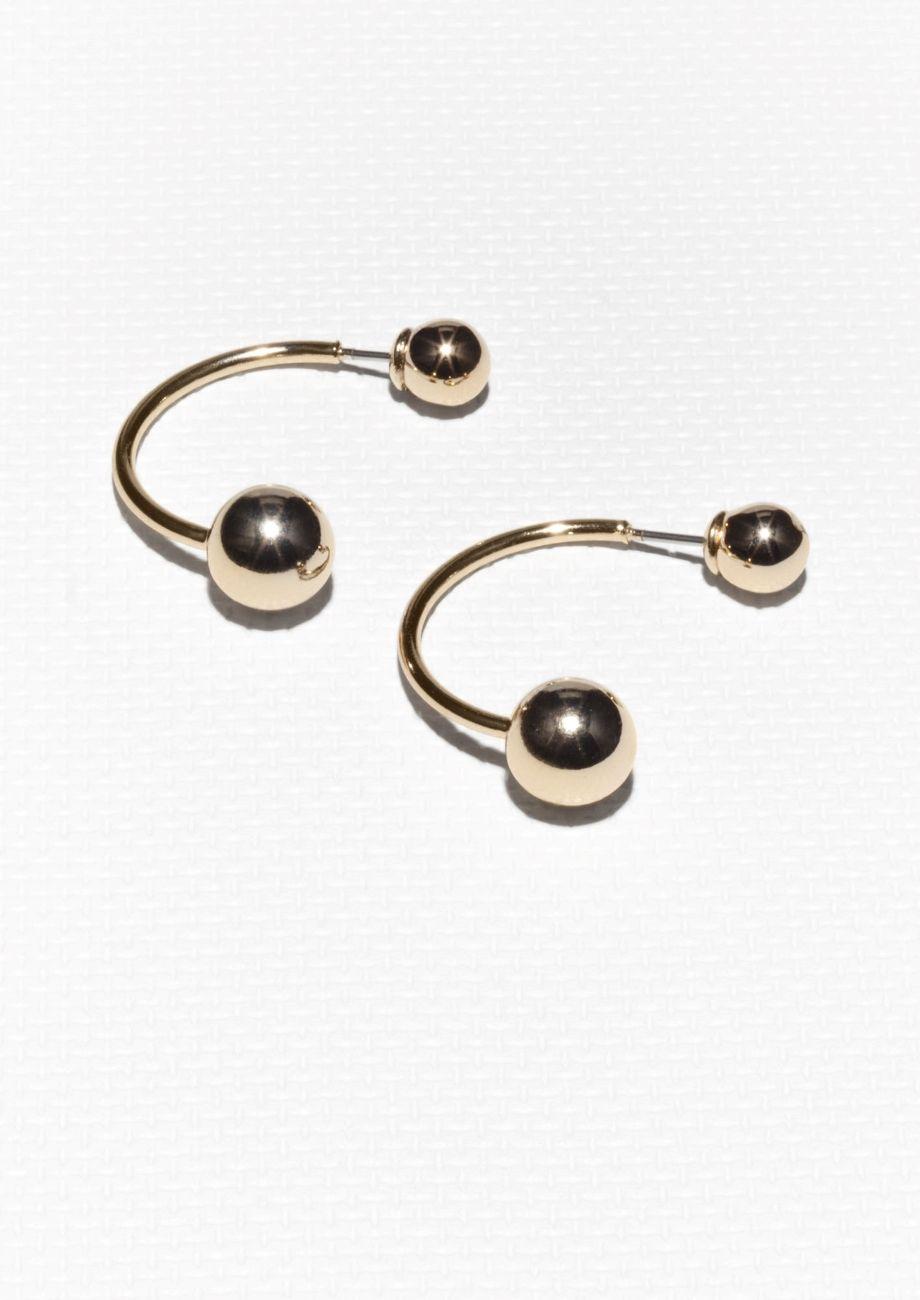 9839ca8b3 & Other Stories   Ball Drop Back Earrings   JEWELRY   Earrings ...