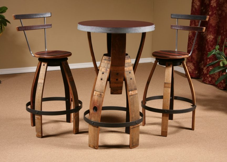 wine barrel furniture wine barrel stave furniture bar height table stave stool