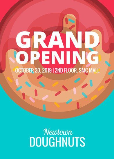 Doughnut Shop Grand Opening Flyer  Flyer  Poster