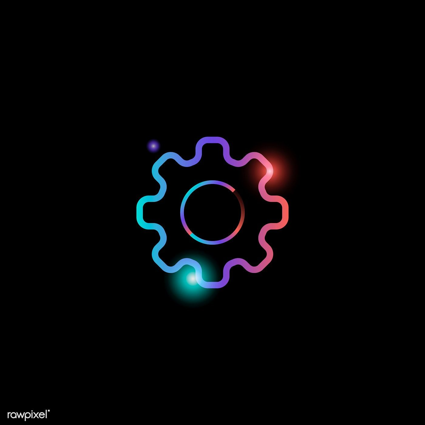 Download Premium Vector Of Setting Gear Social Media Icon Vector 931844 Social Media Icons Vector Iphone Icon Pretty Wallpaper Iphone
