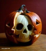 Magic pumpkin carving...