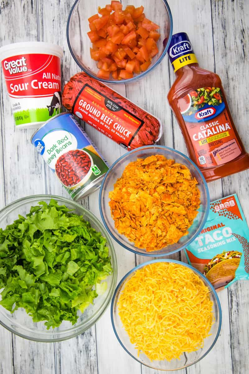 Dorito Taco Salad Video The Country Cook Recipe Taco Salad Taco Salad Doritos Taco Salad Recipes
