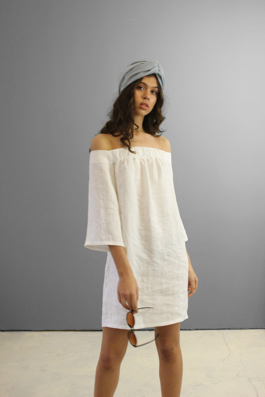 Off Shoulder Linen Dress Bianca Linen Mini Dress Beach Dress Linen Summer Dress Linen Dresses For Woman Short Linen Dress Linen Mini Dress Linen Summer Outfits Off Shoulder Outfits [ 3000 x 2000 Pixel ]