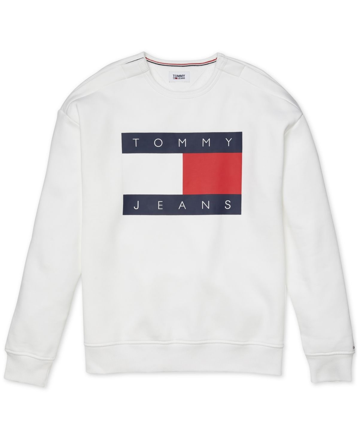 Tommy Hilfiger Adaptive Men S Tommy Jeans Lucca Sweatshirt Bright White Sweatshirts Tommy Jeans Tommy [ 1467 x 1200 Pixel ]