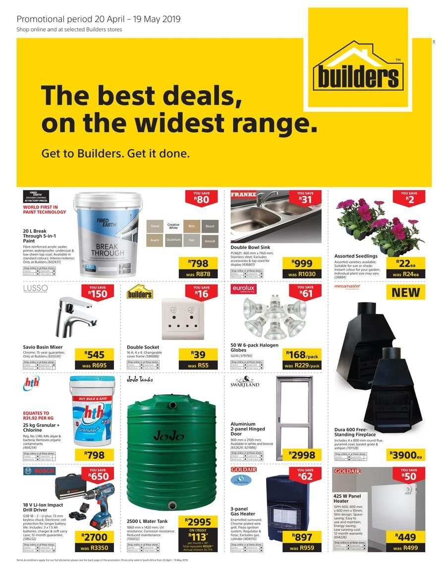 Builders Warehouse Catalogue And Weekly Deals Until 19 05 37396 Allcatalogues Co Za Builders Warehouse Catalog Builder