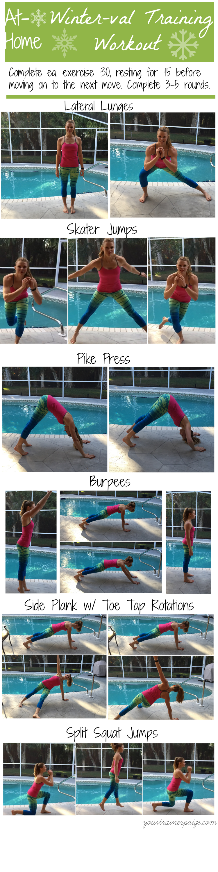 At Home Winter-val Training Workout - Your Trainer Paige