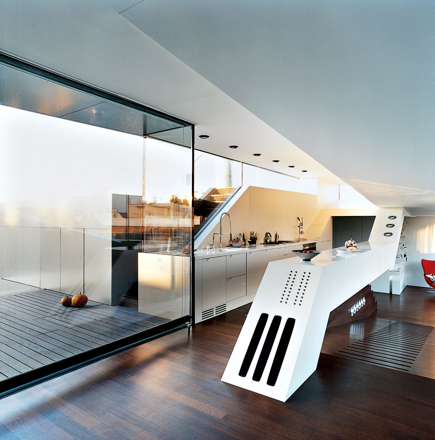 "in this viennese penthouse, the ""culinary cockpit"" (a.k.a. the"