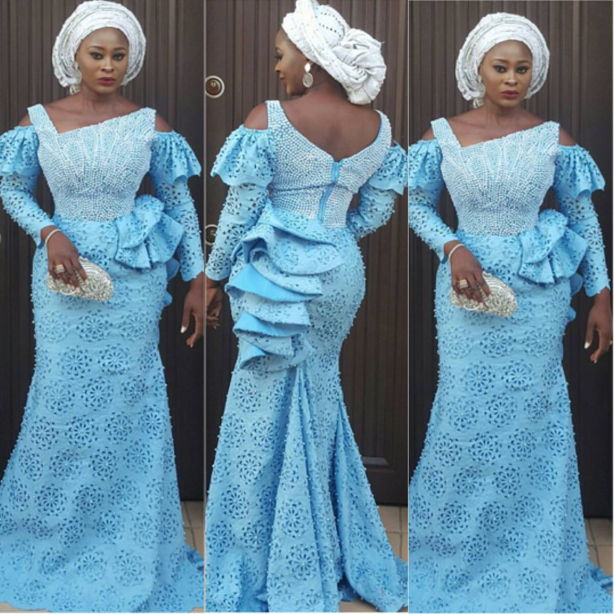 Raji styles asoebi slayer wedding guests african fashion ankara