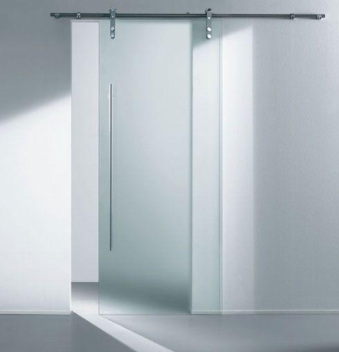 Sufi satinato bianco scorrevole cristal vetro acciaio - Porta scorrevole vetro satinato ...