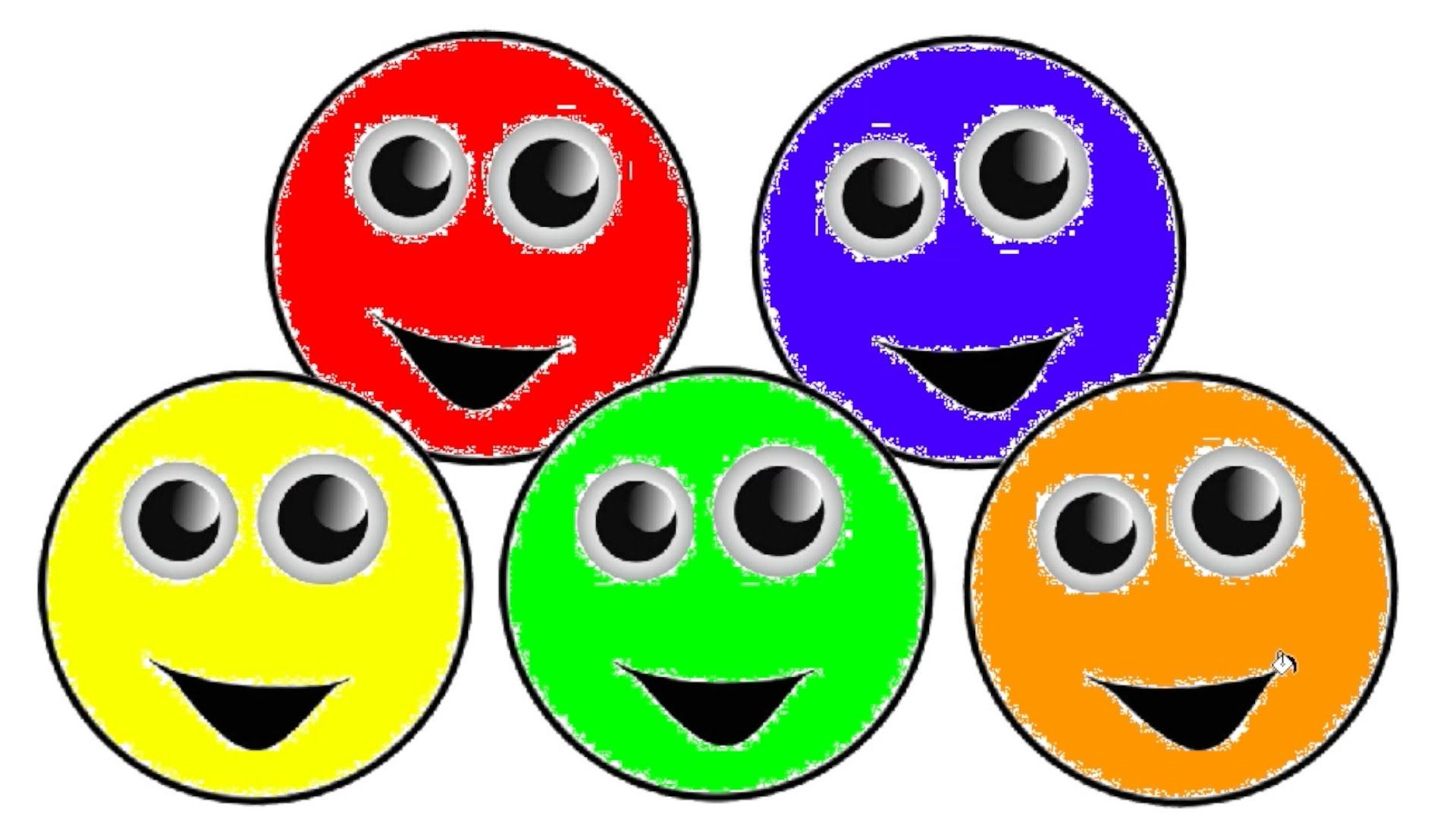 Learn Colours with Googly Eyes and Funny Faces Colouring Pages Red ...
