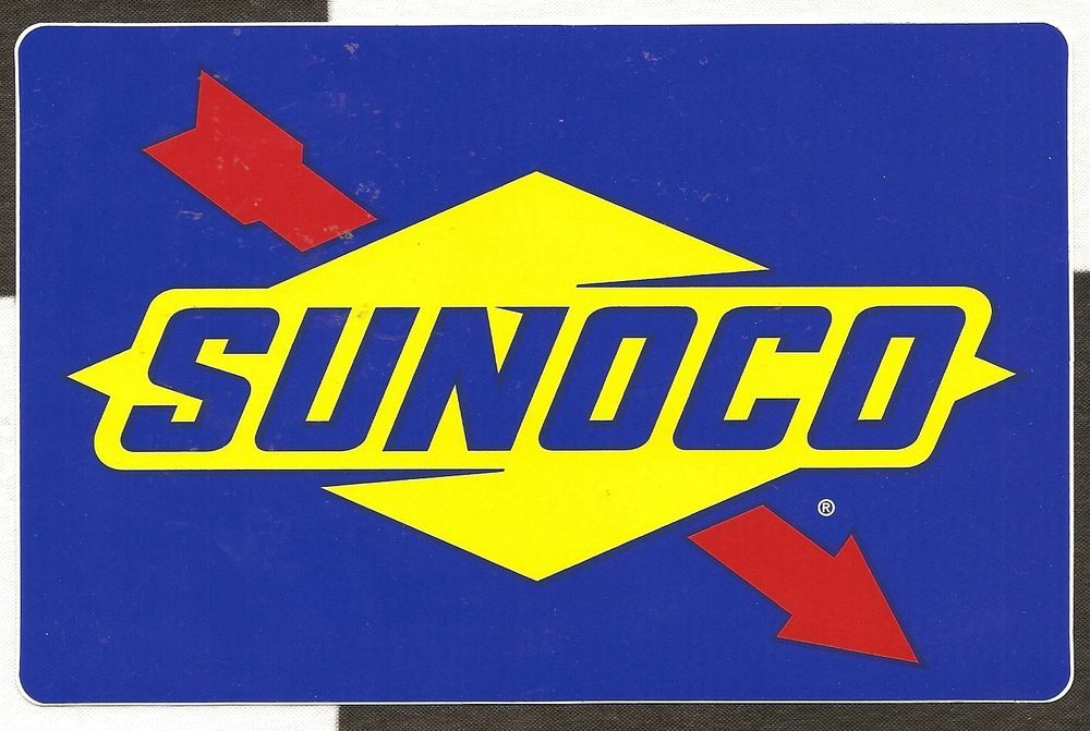 Large Sunoco Oils Original Period Sticker Autocollant Aufkleber 18cm X 11cm Alms Racing Stickers Vintage Racing Logos