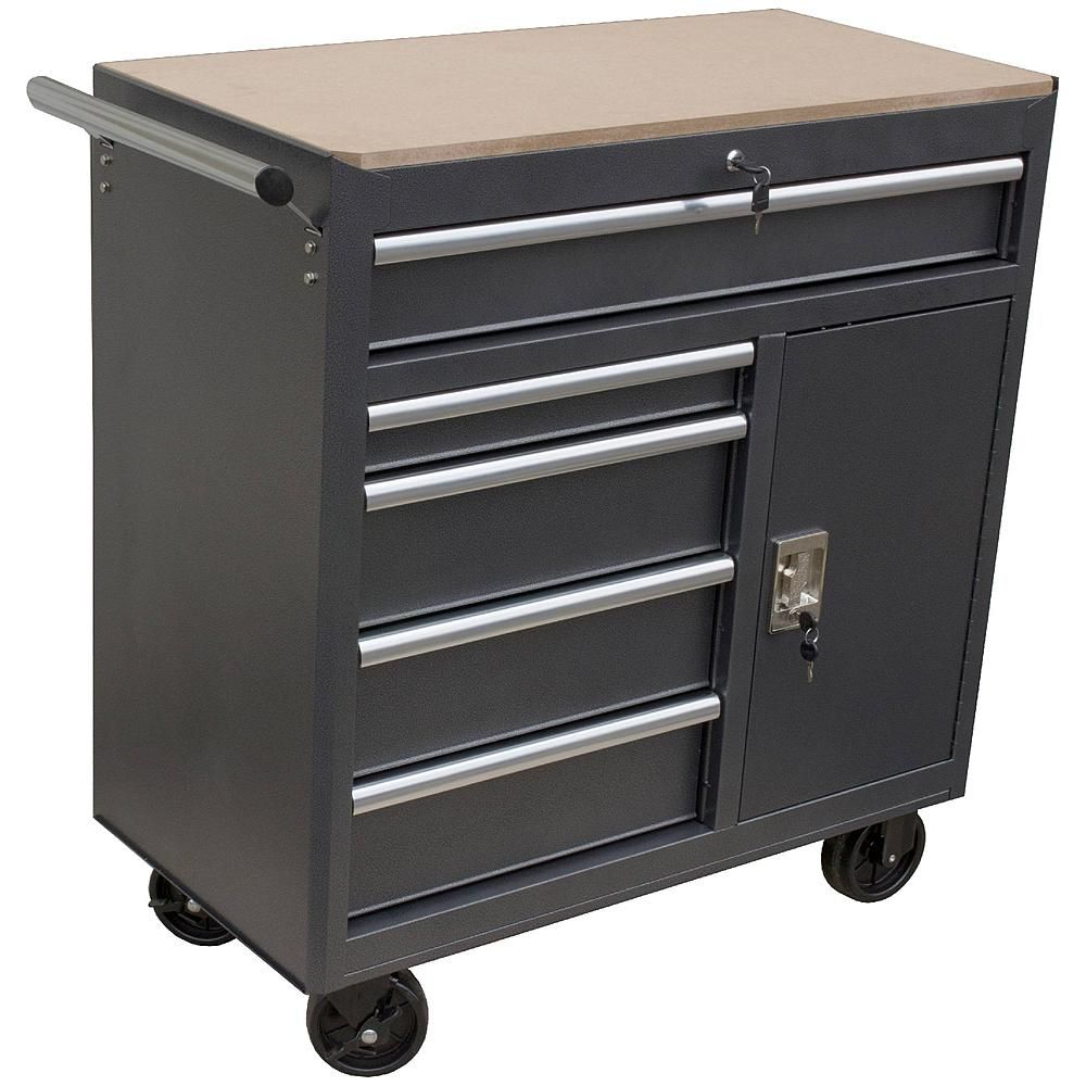5 Drawer Roll Away Tool Cabinet