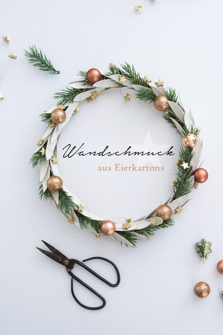 [Kreativ-Adventskalender:Türchen #6] DIY Weihnachtskranz aus Eierkarton – Sinnenrausch - Der kreative DIY Blog für Wohnsinnige und Selbermacher