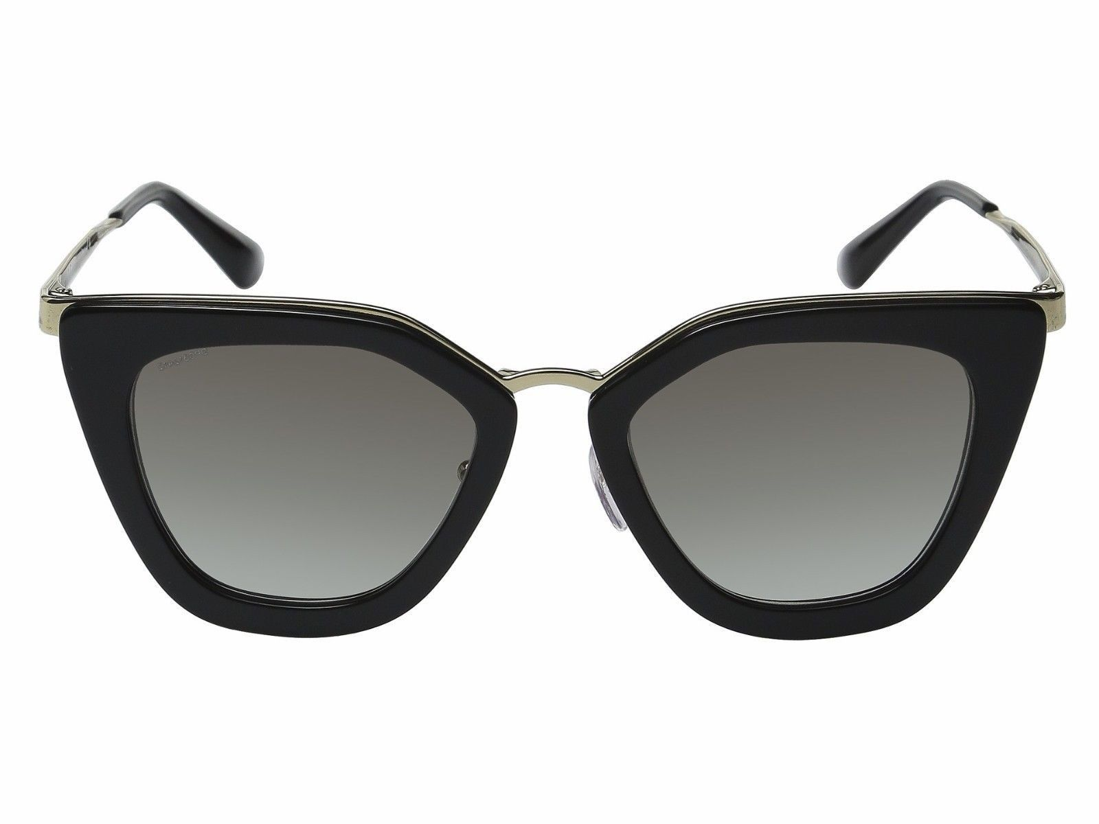 644c1d4368df2 NWT Prada Sunglasses SPR 53S 1AB-0A7 Black Gold   Gray Gradient 52 mm NIB