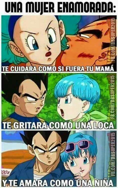 Esto Es Tan Cierto Vegeta Y Bulma Personajes De Goku Imagenes De Vegeta