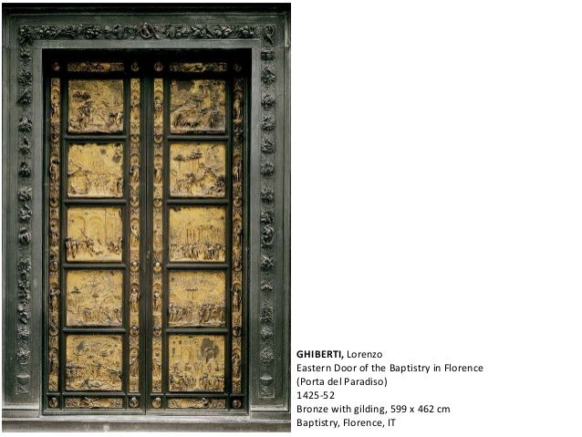 GHIBERTI, Lorenzo Eastern Door of the Baptistry in Florence (Porta del Paradiso) 1425-52 Bronze with gilding, 599 x 462 cm...