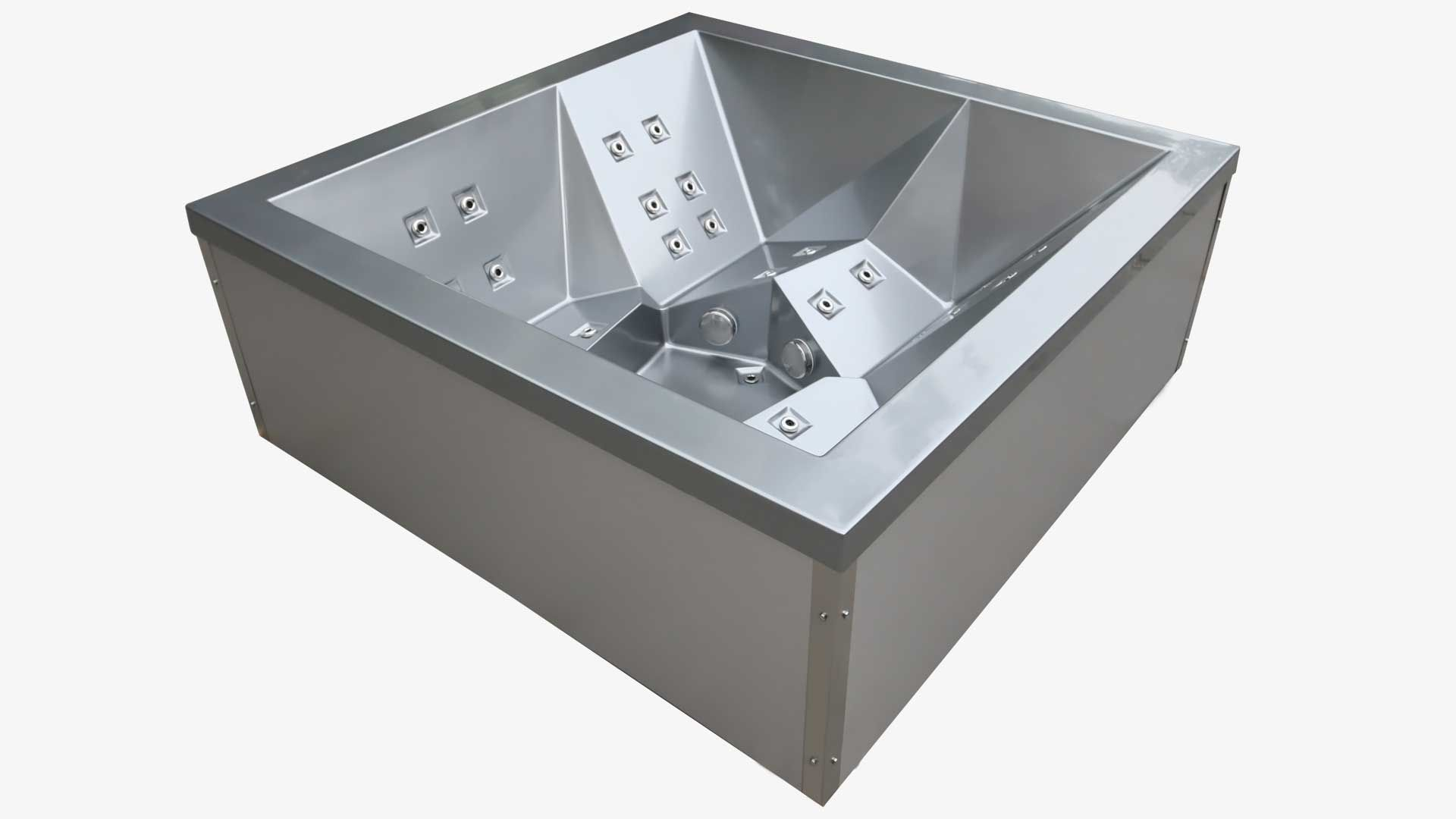 The Stealth Stainless Steal Hot Tub Jacuzzi Synonym In 2020 Aussenwhirlpool Design Ideen Whirlpool