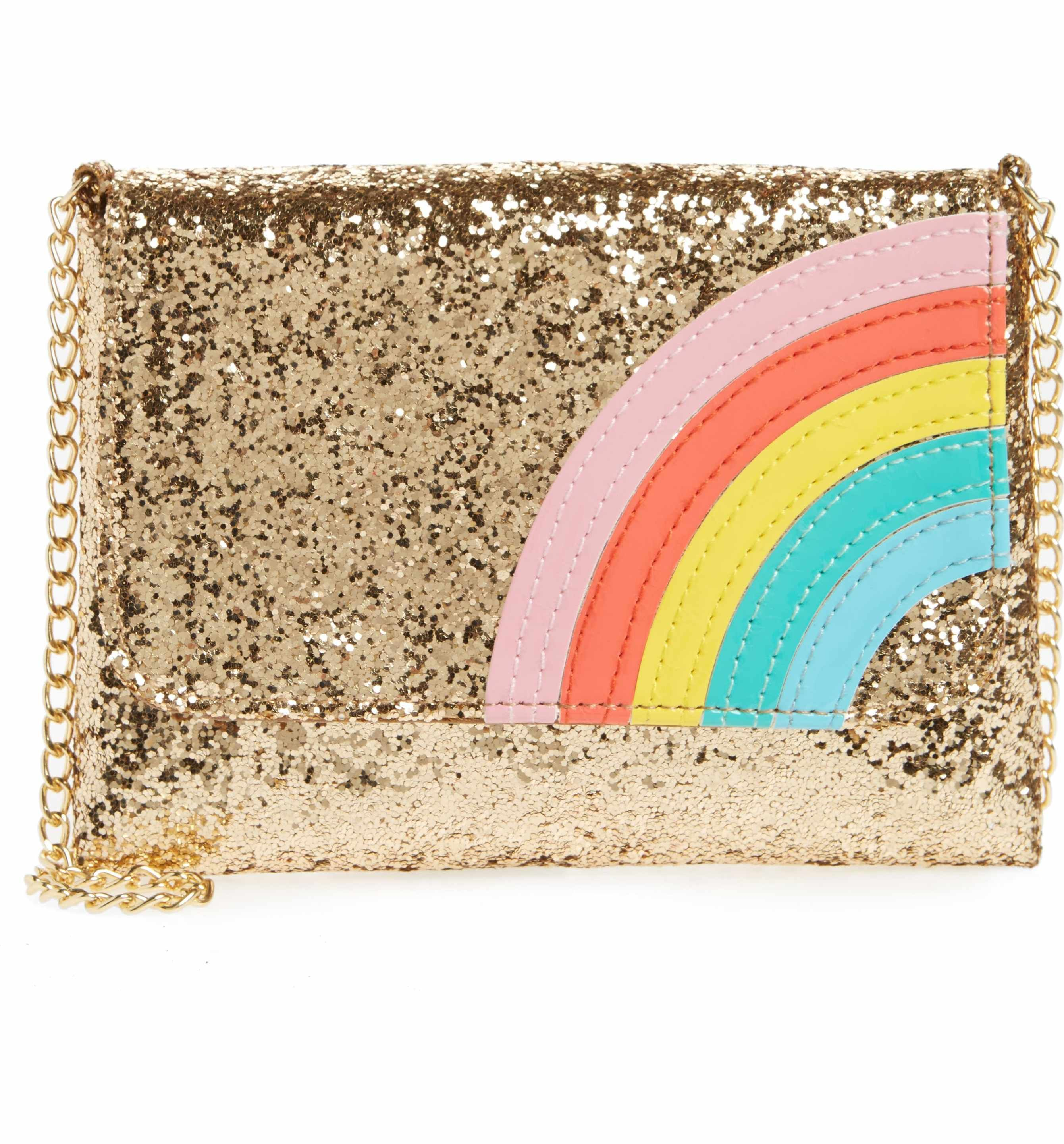 Main Image Capelli New York Glitter Rainbow Crossbody Bag S
