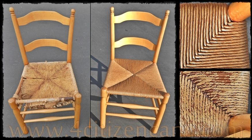 Fiber Rush Chair Weaving