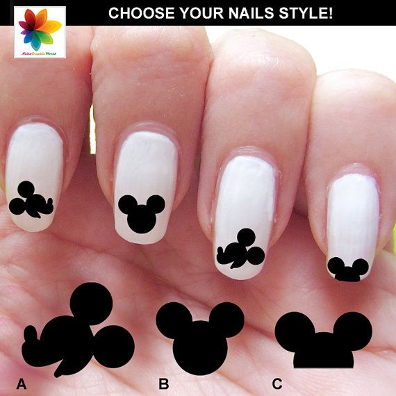 Mickey mouse Disney nail art cartoon 84 by Nailsgraphicworld, $6.90 ...