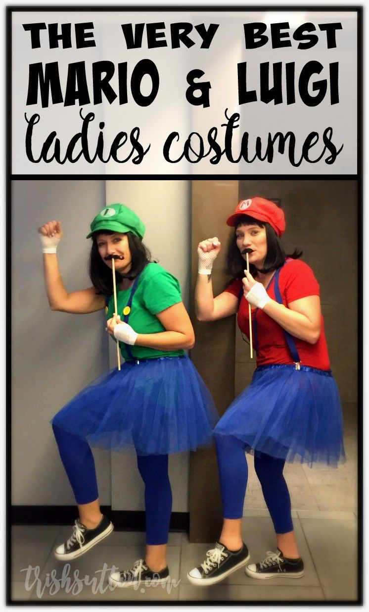 the best homemade mario luigi ladies halloween costumes kost m pinterest kost m. Black Bedroom Furniture Sets. Home Design Ideas