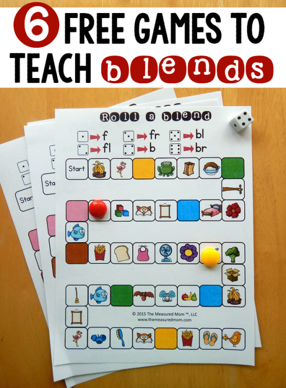 6 free games for teaching beginning blends First grade