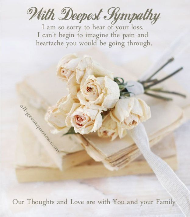 Sympathy Card With Deepest Sympathy Sympathy Card Messages