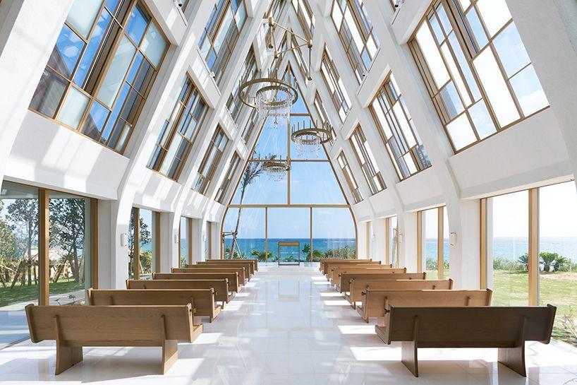 General Design S Light Filled Wedding Chapel Frames Views Of Japanese Coast Open Air Chapel Resort Architecture Resort Interior Design