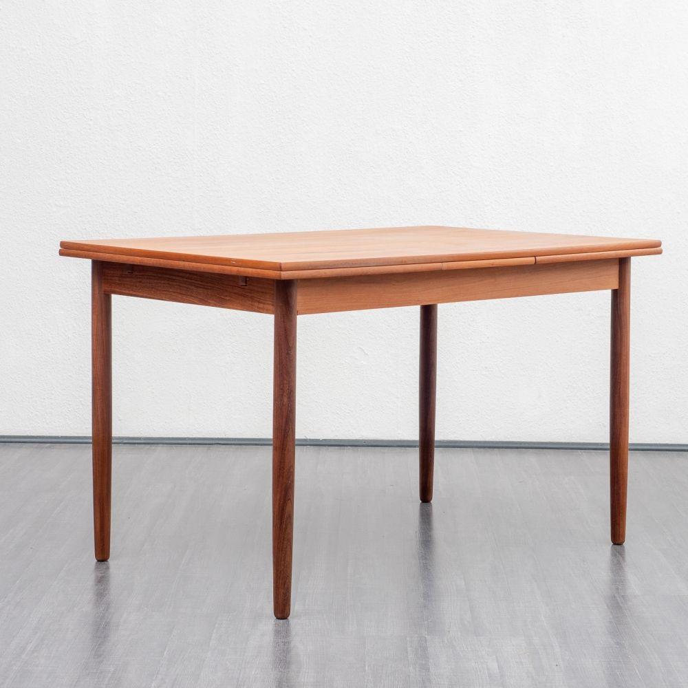 For Sale Midcentury Scandinavian Design Teak Dining Table 1960s