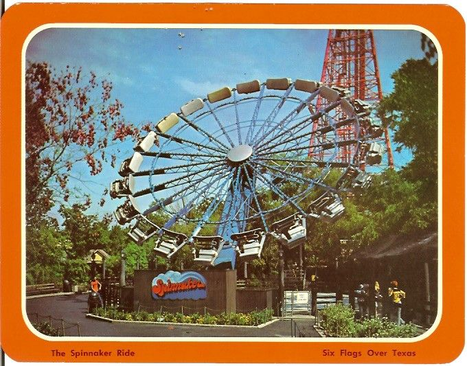 The Spinnaker Removed Six Flags Over Texas Arlington Six Flags Over Texas Amusement Park Rides Six Flags