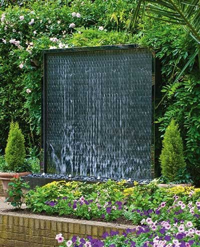 Outdoor modern water wall feature | Arabshahi Wolinsky Garden Ideas ...