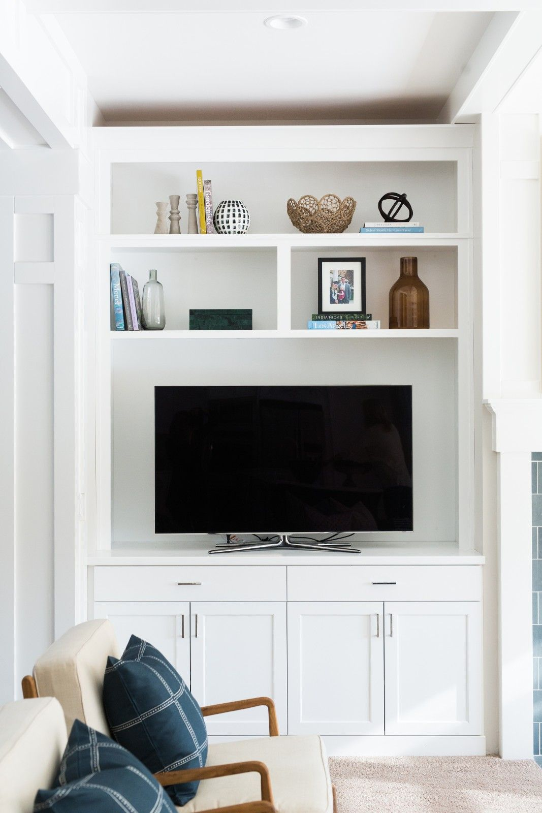 Cove Street Project Reveal Built In Wall Units Living Room