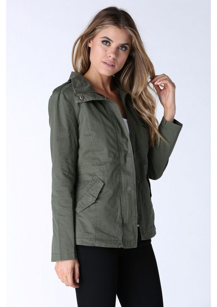 Furcast Army Jacket in Olive