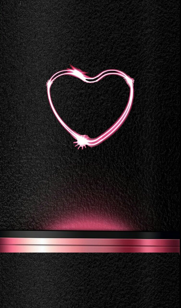 Black And Pink Heart Iphone Wallpaper Heart Wallpaper Dark Wallpaper