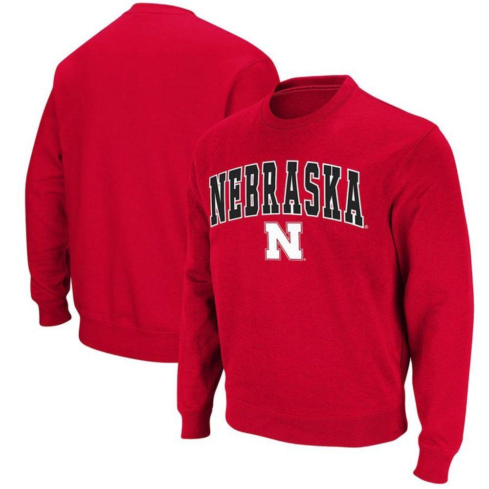 Men S Colosseum Scarlet Nebraska Cornhuskers Big Tall Arch Logo Sweatshirt Sweatshirts Nebraska Cornhuskers Crew Neck Sweatshirt [ 1000 x 1000 Pixel ]