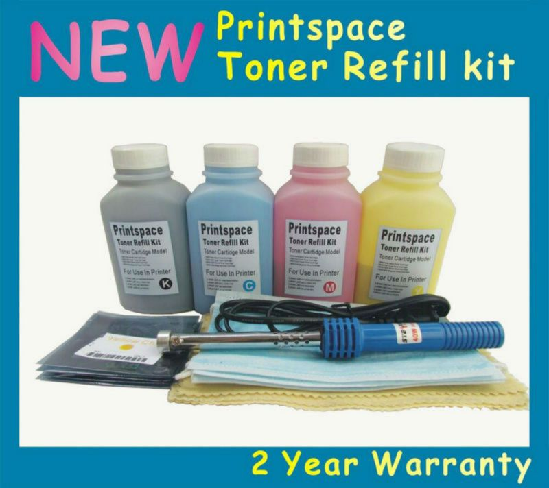 4x Standard Toner Refill Kit + Chips Compatible for HP 128A