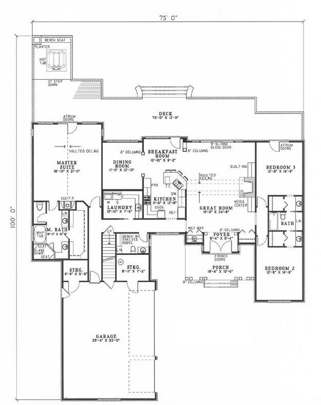 Traditional plan square feet bedrooms bathrooms also rh pinterest