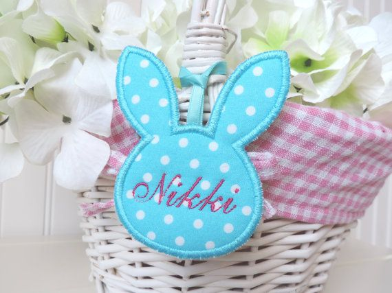 Hey i found this really awesome etsy listing at httpsetsy personalized easter basket bunny etsy home living negle Images