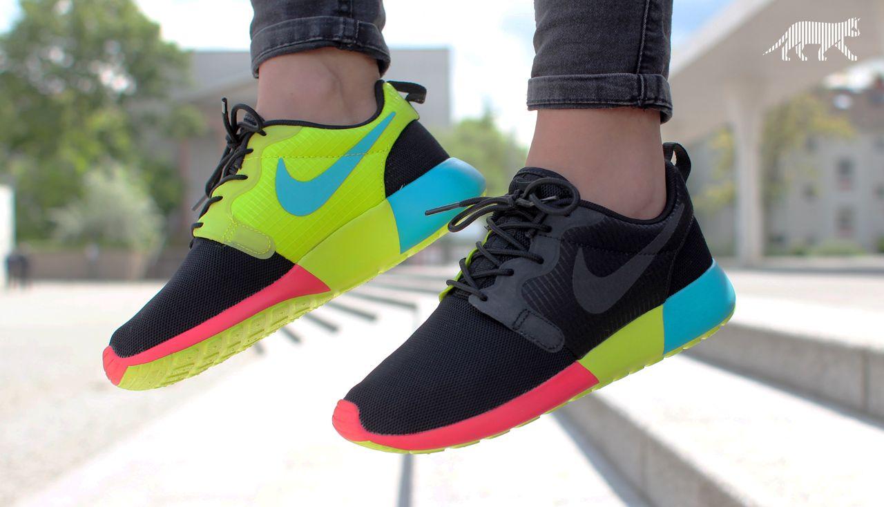 finest selection 96f92 8a2f4 Nike wmns Roshe Run Hyp (Black   Black - Turbo Green - Venom Green)  nike   roshe  rosherun  sneaker  fashion  streetwear  sport  black