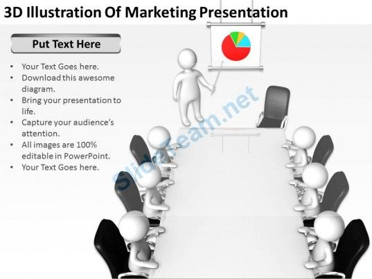 D Illustration Of Marketing Presentation Ppt Graphics Icons