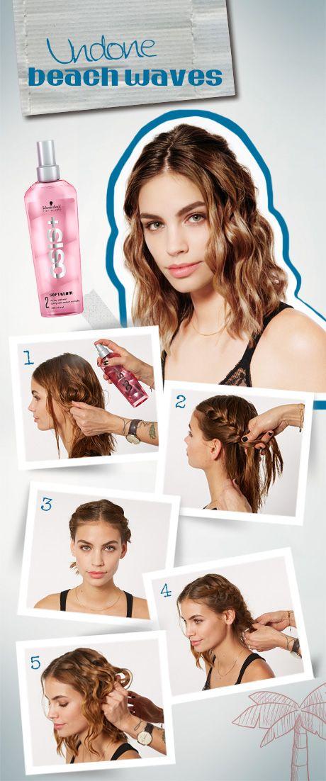 Undone Summer Hairstyles With Schwarzkopf Undone Beach Waves