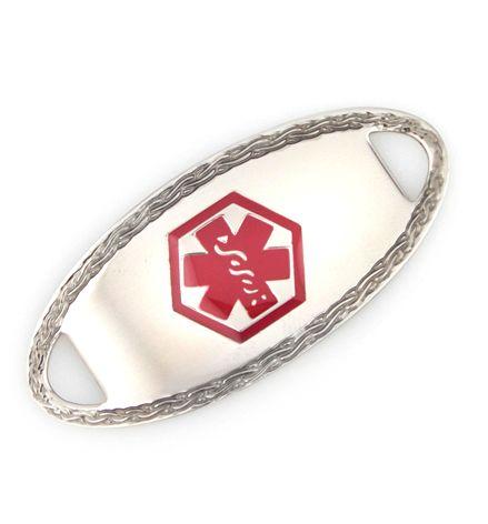 Oval border medical id tag medical alert bracelet pinterest oval border medical id tag sciox Choice Image