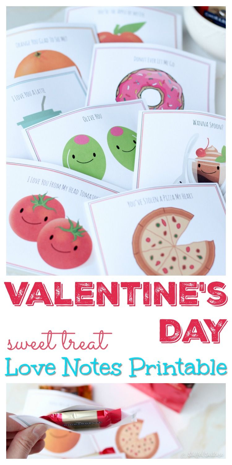 Sweet & Punny Valentines Day Cards Printable Love Notes ...
