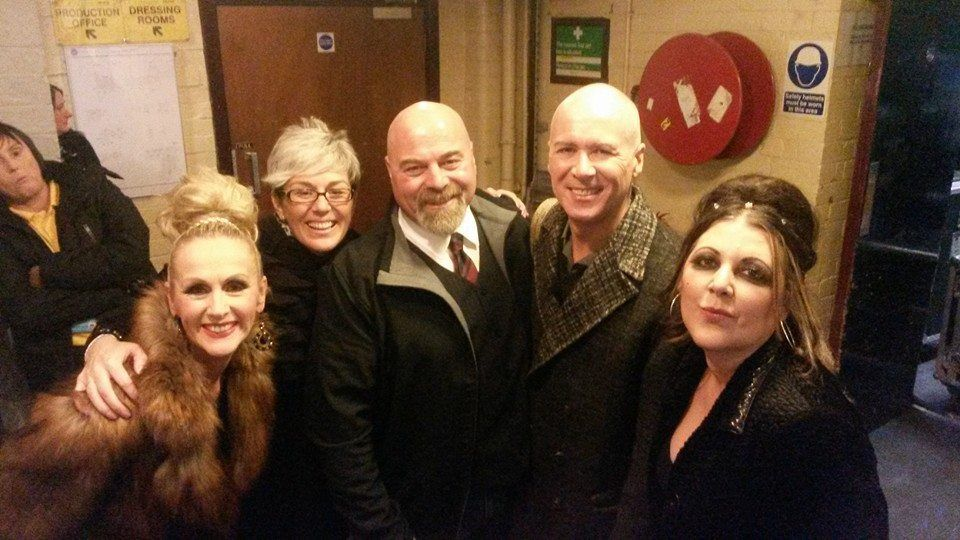 The Human League with fans.