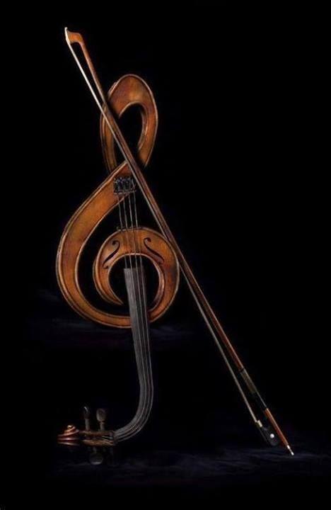 Geige - Violine / Violin + Notenschlüssel / Music Clef + Musik Instrumenten / Musical Instruments