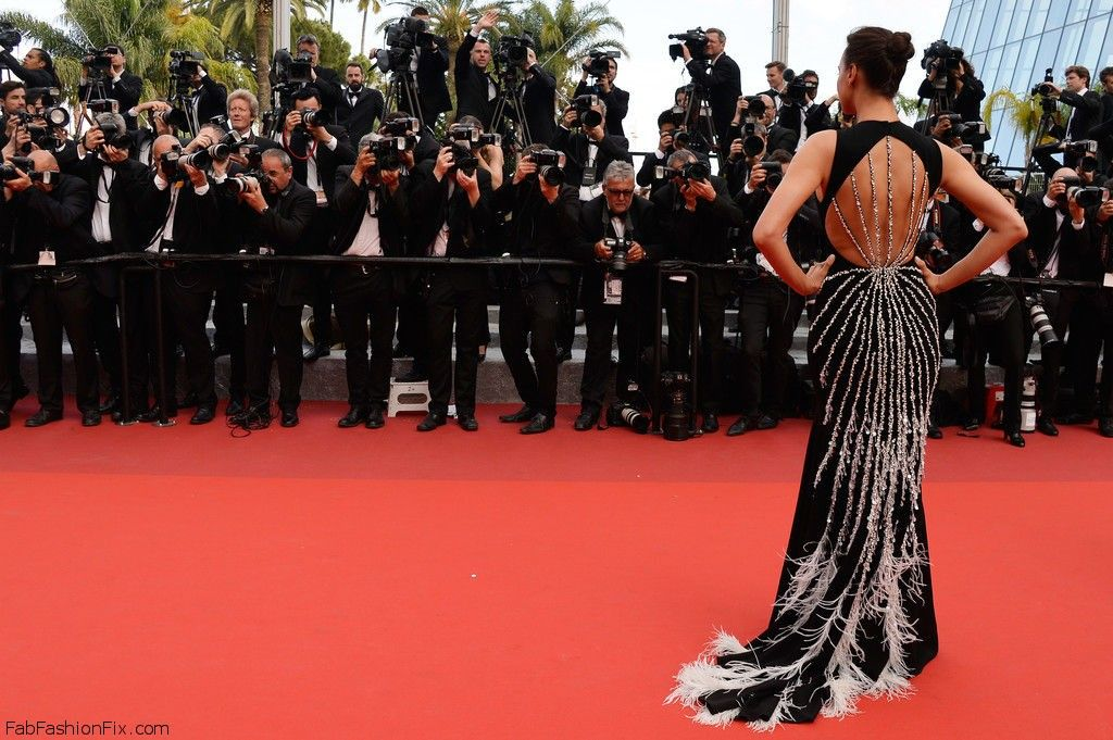 """Irina Shayk wearing Miu Miu gown at """"The Unknown Girl (La Fille Inconnue)"""" Premiere during the 69th annual Cannes Film Festival. #cannes #festivaldecannes #irinashayk"""