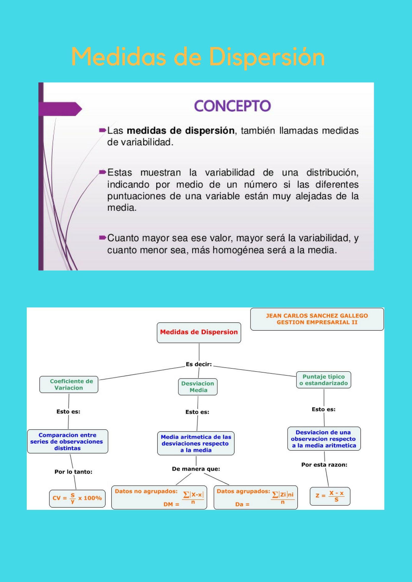 Definicion De Medidas De Dispersion Carlos Lascano Medidas De