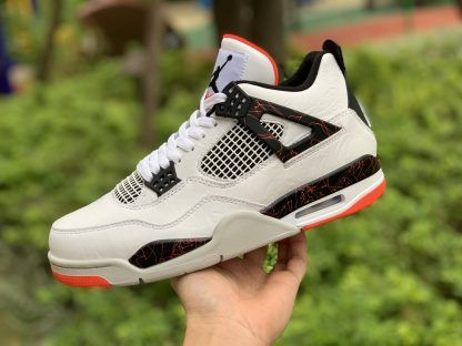 "1a117e51ed93 2019 Air Jordan 4 ""Pale Citron"" White Black-Light Crimson-Pale ..."