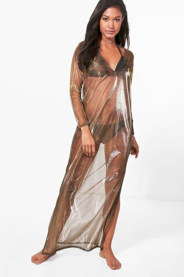 d7b12dad612 Clara Mermaid Metallic Mesh Maxi Beach Kaftan in 2019 | Instagram ...